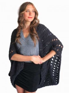 Knit poncho beach cover up - Two of Wands