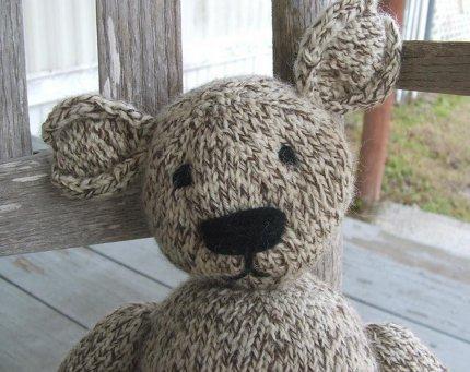 mad man knitting teddy bear