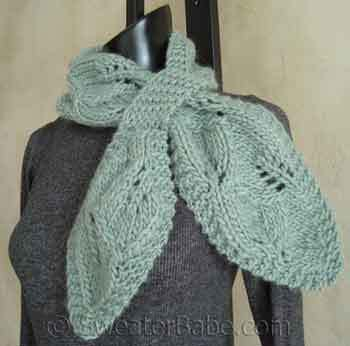 falling leaves scarf free knitting pattern