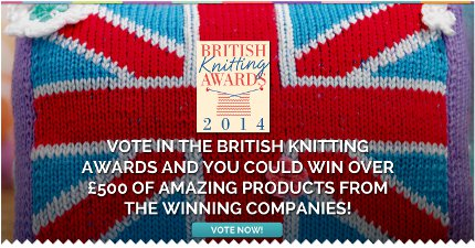 vote now in the british knitting awards