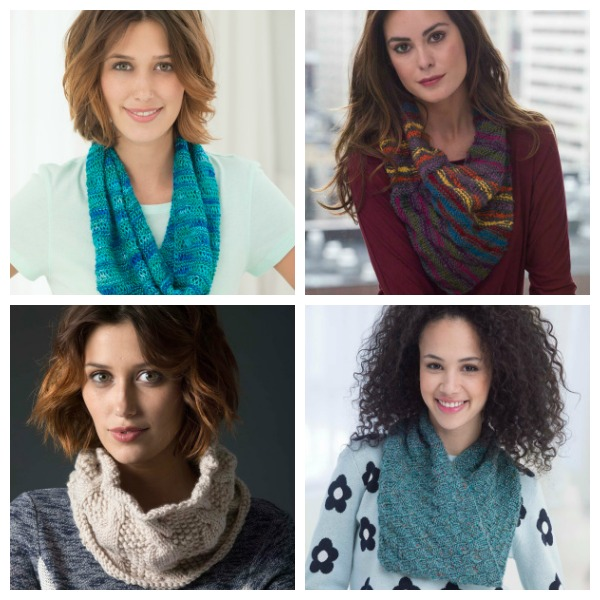 a few great free cowl patterns from Lion Brand Yarn