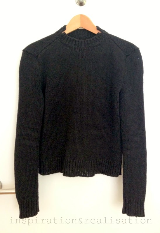 A machine knit sweater with details inspired by Jil Sandler