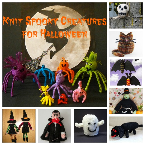Knit some spooky (and cute) creatures for Halloween.