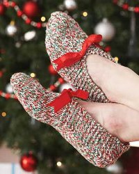 Knit Some Simple Slippers for a Gift, or for You