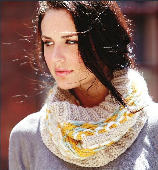 Win the yarn to knit your own Strand-Tastic Cowl from Yarnspirations!