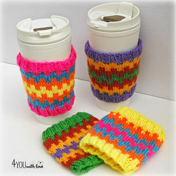 Bon Bon Coffee Cozy Knitting Pattern - Knitting