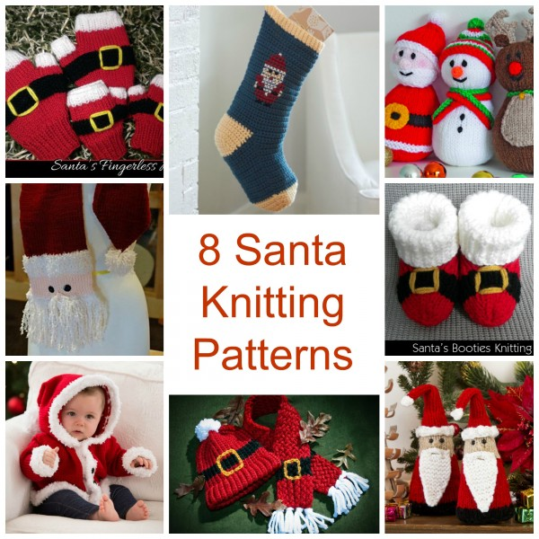 8 Santa Knitting Patterns Knitting