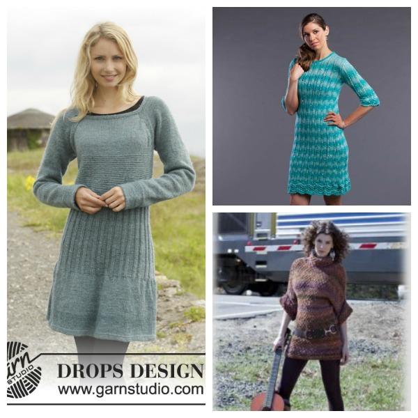 free sweater dress knitting patterns