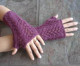 get this free fingerless glove knitting pattern this month only