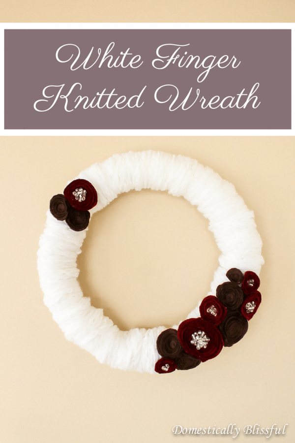 use a finger knit cord to make a cute wreath.