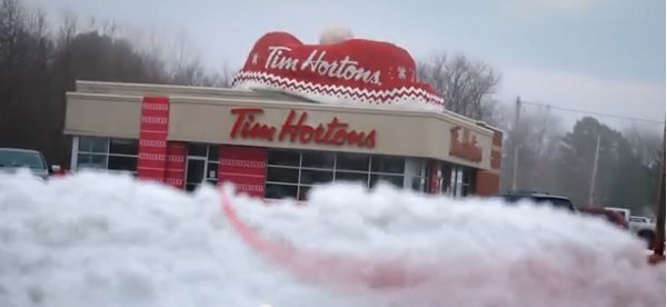 Tim Horton's knits a restaurant in one of the coldest places in Canada.
