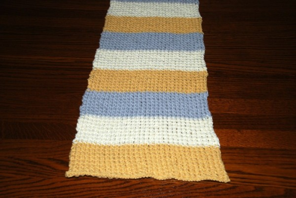 bamboo stitch table runner knitting pattern