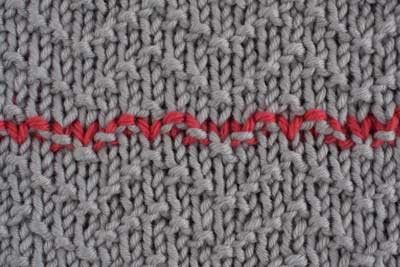 grafting in pattern stitch