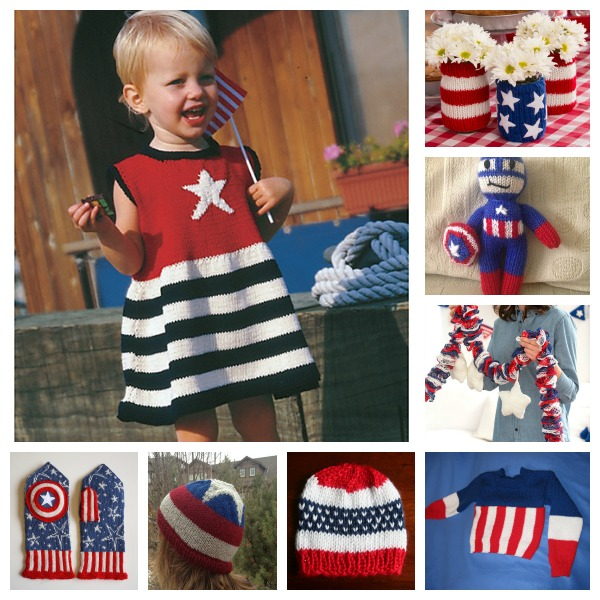 patriotic knitting