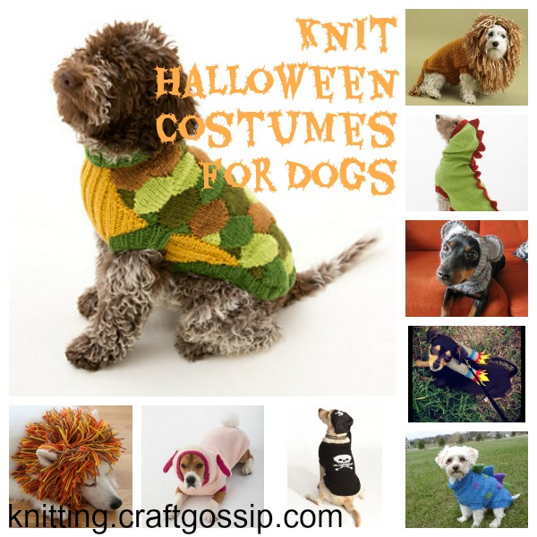 knit halloween costumes for dogs