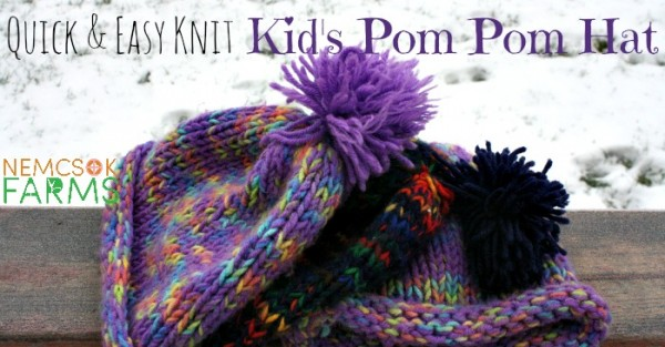 Stitch a Simple Pom Pom Hat for Kids – Knitting