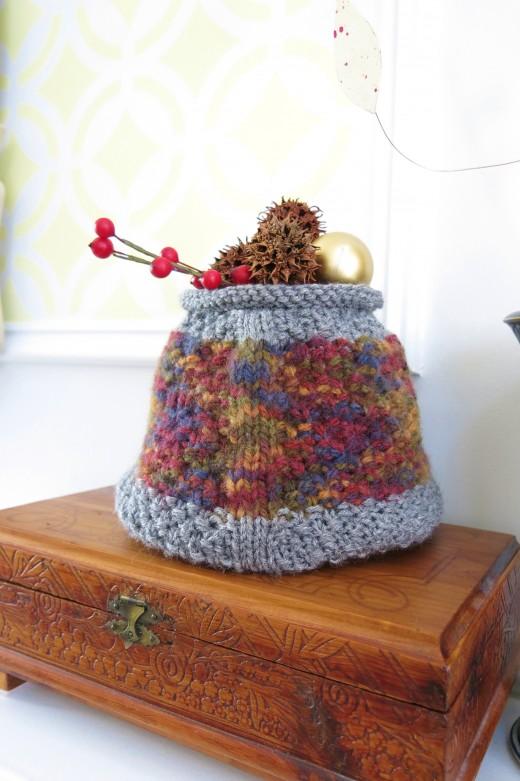 geometric basket knitting pattern