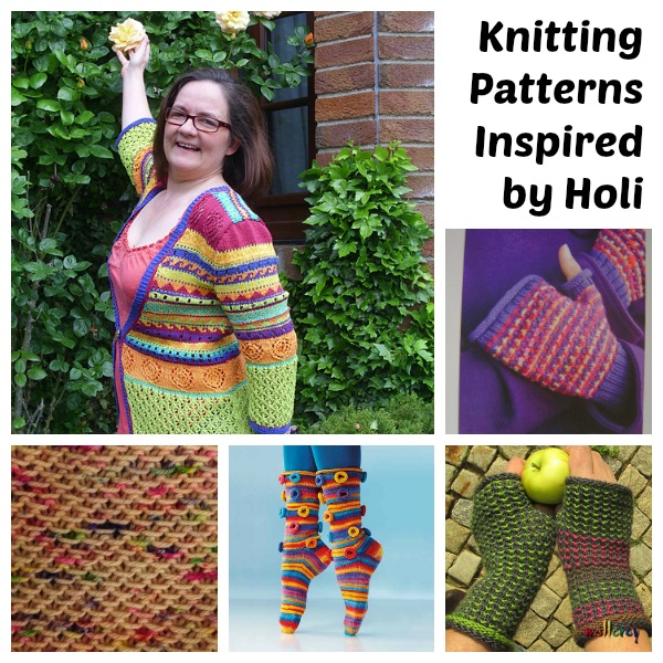 Knit something colorful to celebrate Holi.