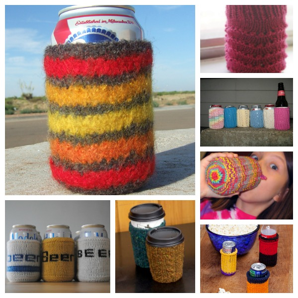 free knitting patterns for can cozies