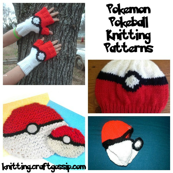 Poekmon pokeball knitting patterns