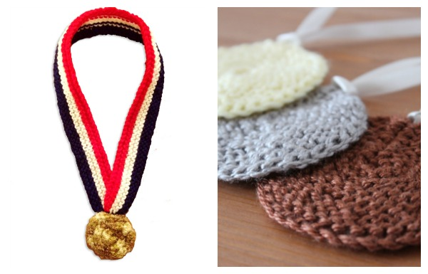 knit olympic medals