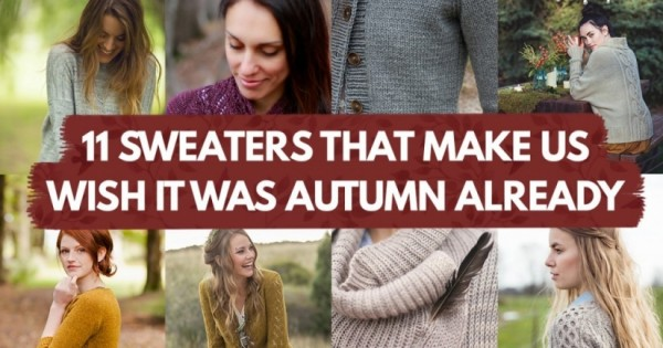 sweater patterns that will make you wish for fall
