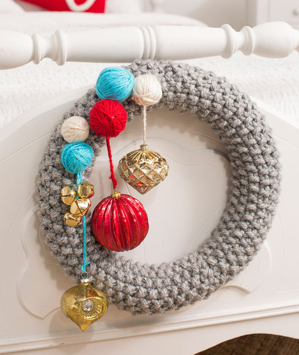 how to knit a wreath