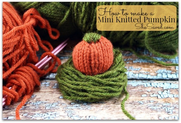 mini knitted pumpkin pattern