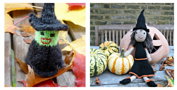 Cute little witch knitting patterns