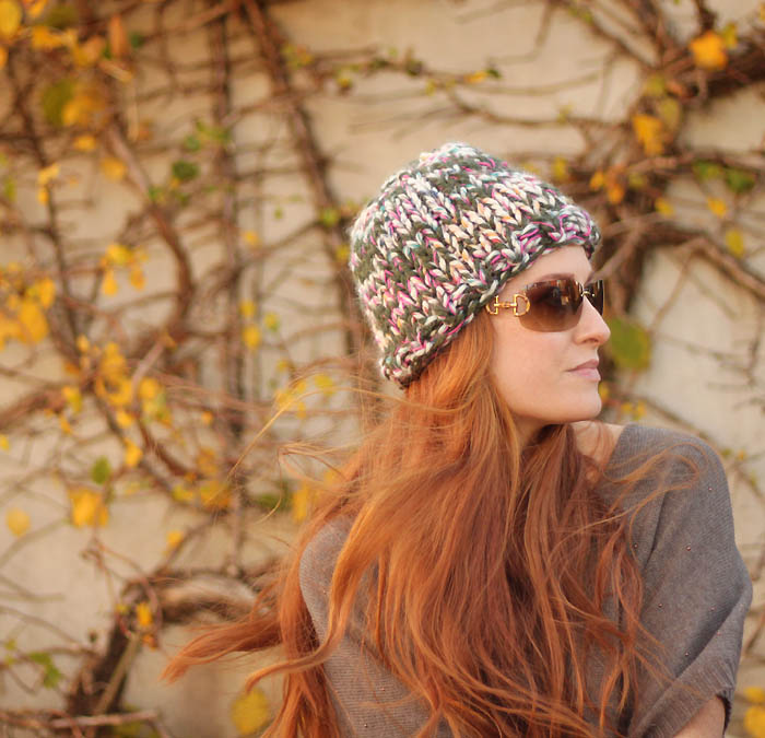 Knit A Simple Warm Hat With Three Stands Of Yarn Knitting