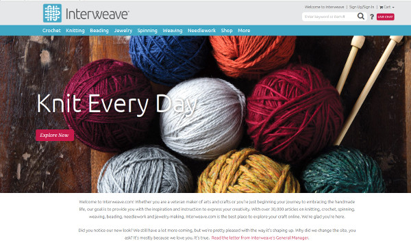 Interweaverevamps site, merges with Patternworks