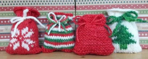 Advent Calendar Handmade Knitting : Knit little santa sacks for an advent calendar knitting