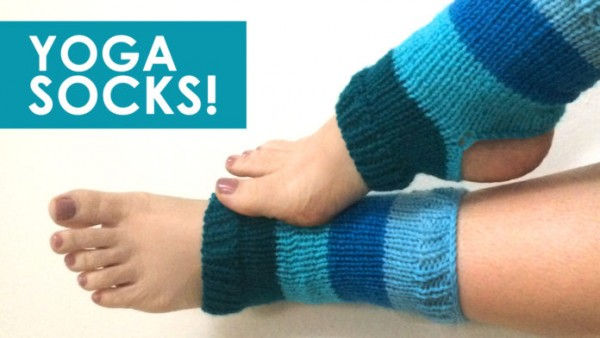 Knitting Pattern For Yoga Socks : Afraid of Sock Knitting? Try Yoga Socks   Knitting