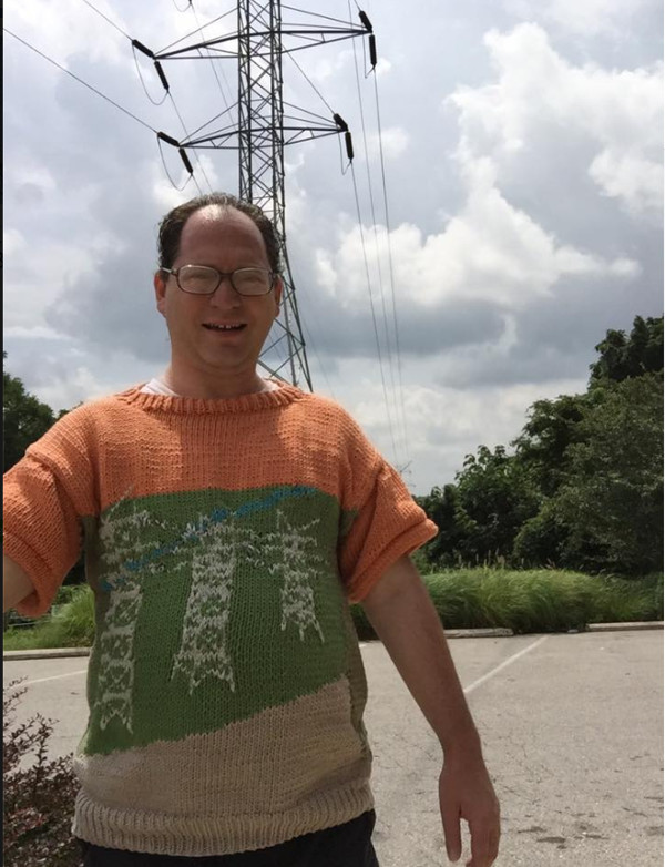 Sam Barsky knits amazing sweaters of landmarks and more.