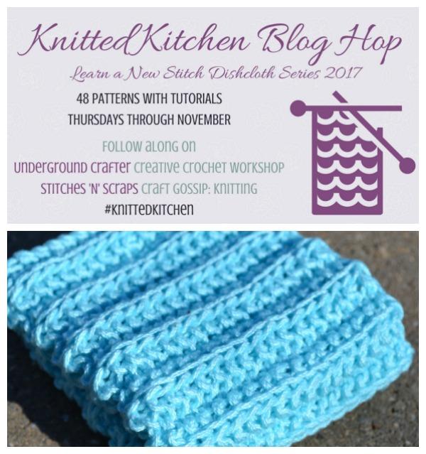 cartridge rib dishcloth knitting pattern