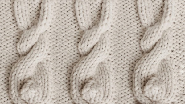 How to knit bunny cables