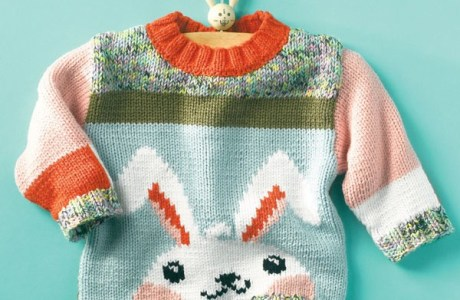 Check out this Sweet Bunny Sweater Pattern for Kids