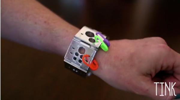TINK wearable notions bracelet Kickstarter.