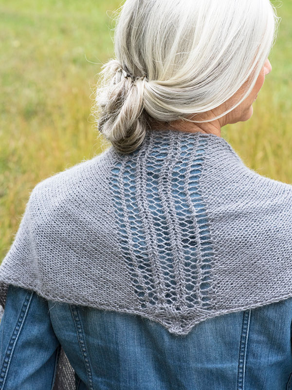 Dowson triangular shawl berroco