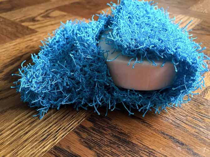 Knit A Soap Pouch With Scrubby Yarn Knitting