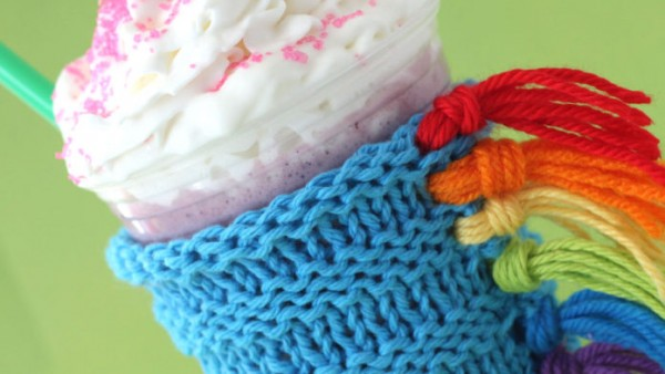 unicorn drink cozy knitting pattern