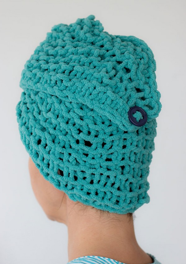 Knit a hair turban for after shower or swimming.