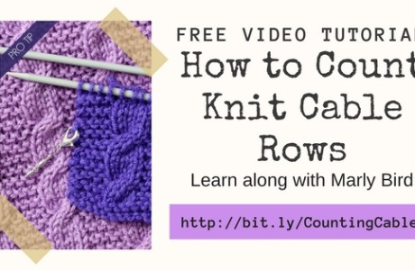 How to Count Rows When Knitting Cables