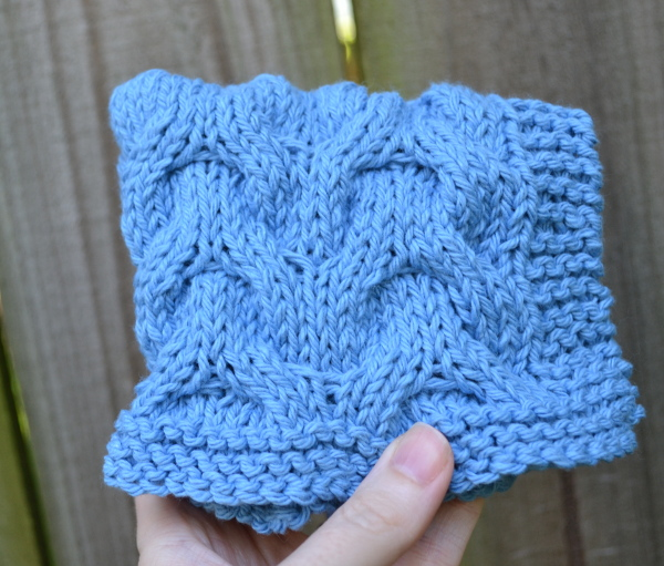 Chevron Knitting Pattern : Chevron Cable Dishcloth Pattern   Knitting