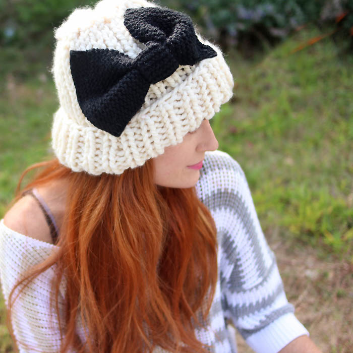 eugenia kim inspired knit bow hat