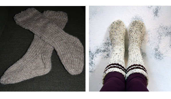 bulky sock knitting patterns