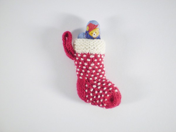 easy mini stocking to hold a little gift