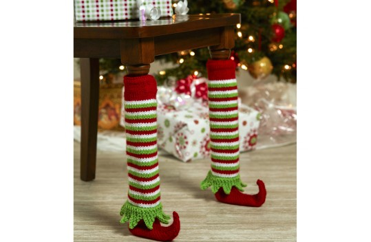 elf shoe table leg knitting pattern