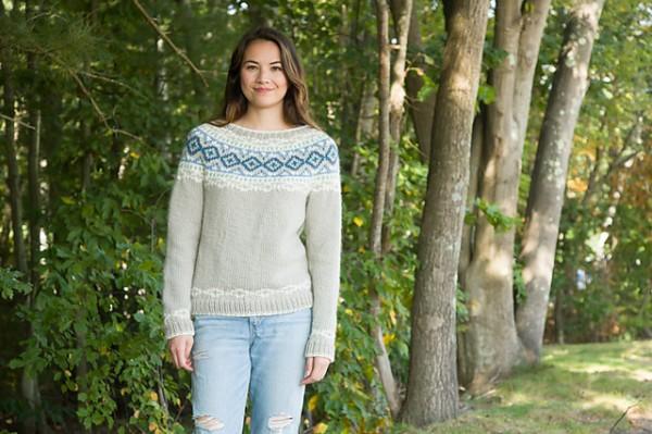circular yoke colorwork sweater