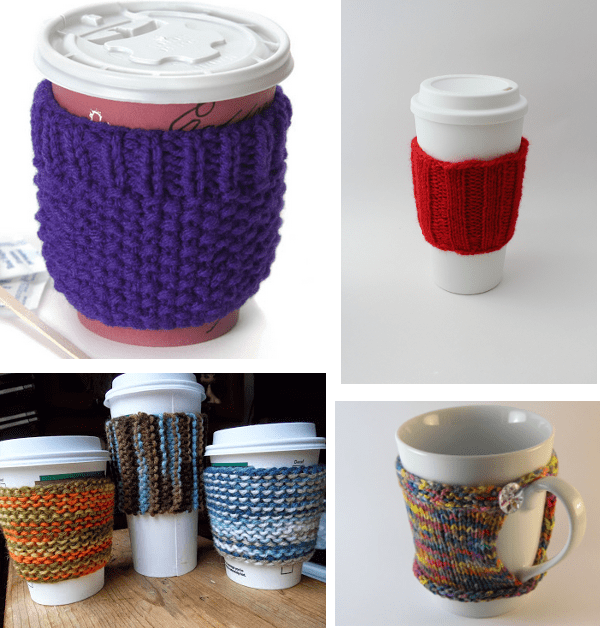 coffee cup cozy knitting patterns